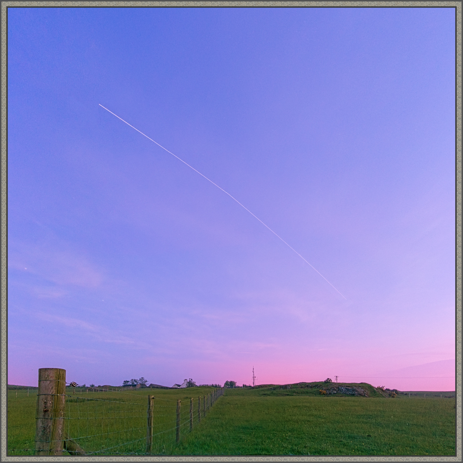 The International Space Station approaching from the west