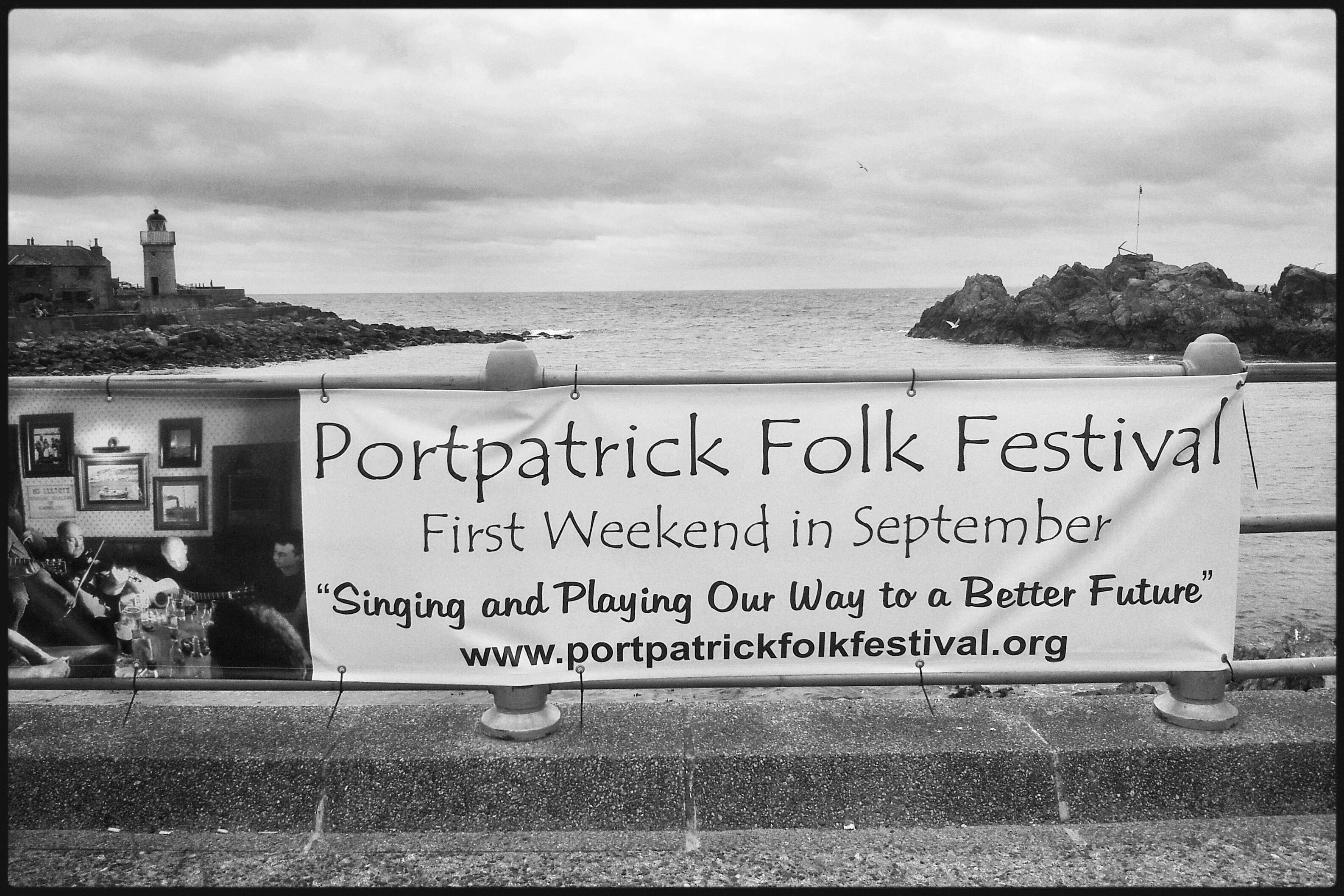 poster for the Portpatrick folk festival