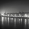 Mist over the Tay, black and white