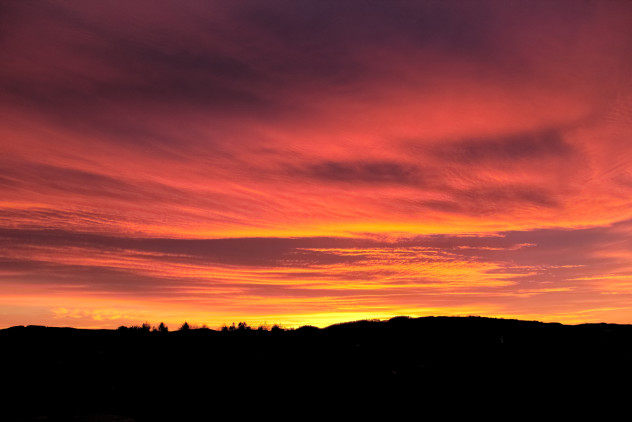 Feb 7, 2015 - I drove from Dundee to Perth straight into this stunner of a sunset.