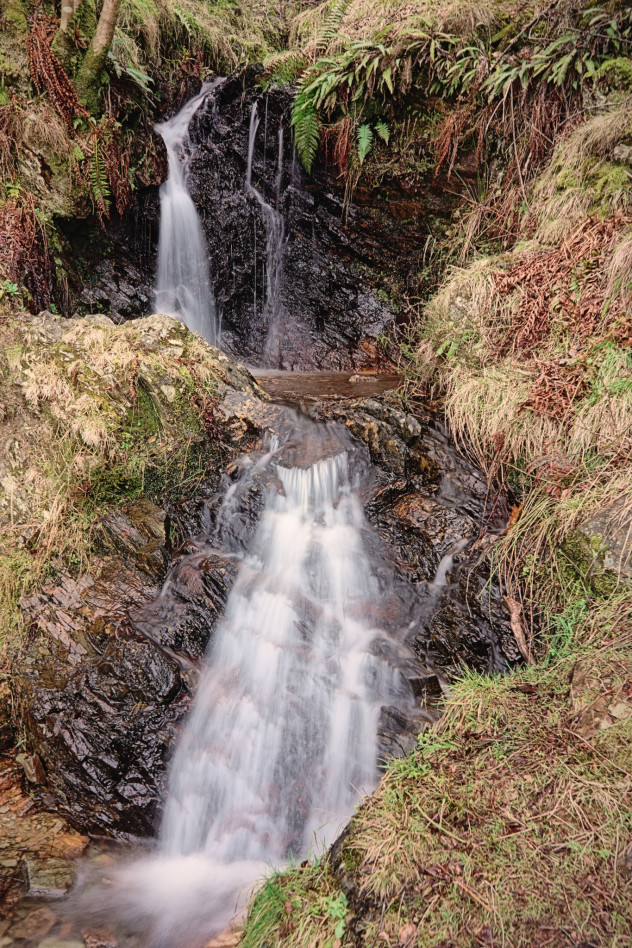 Just a small gentle cascade - but some of the purest water I've tasted. Especially lovely chilled by winter.