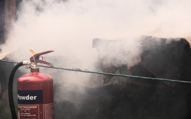 Making smokies involves smoke...