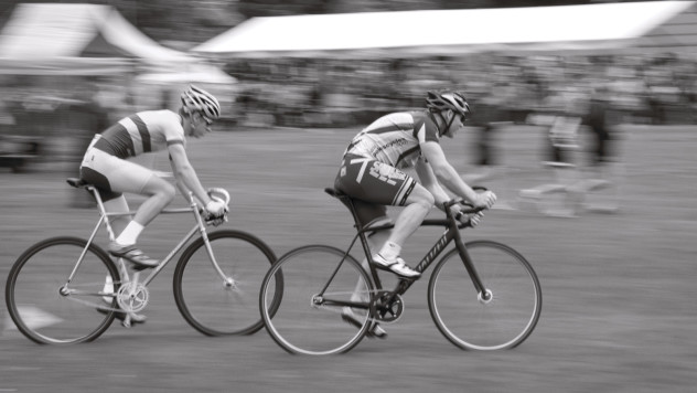 Cyclists at the Perth Highland Games