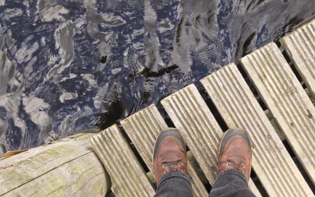 Standing on Derwentwater