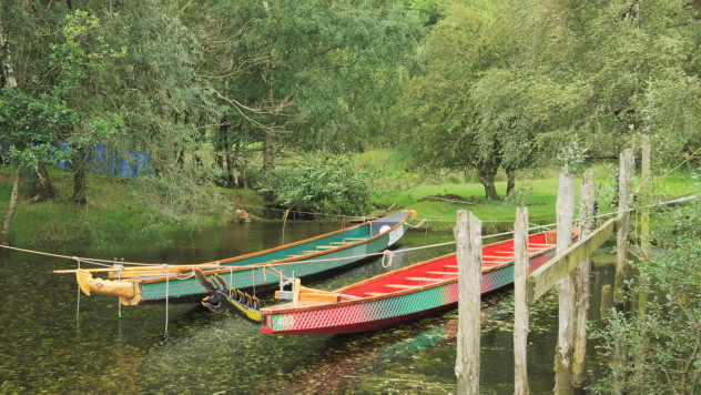 Boats at Lodore Falls Launch, Derwentwater