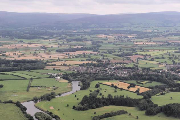 Flying: outskirts of Carlisle