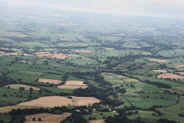 Flying: above Southwaite Wonderful gentle (flat) agricultural landscape