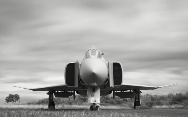 Phantom (gratuitous long exposure)  McDonnell-Douglas Phantom FGR2 at the Solway Aviation Museum
