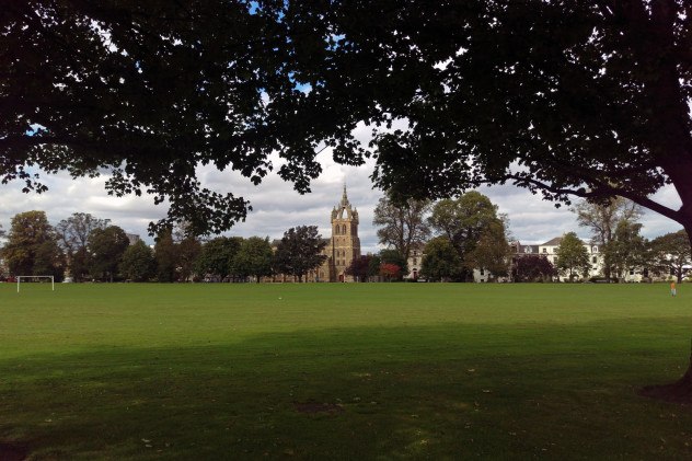 St Leonard's Church of Scotland, from the South Inch - an iconic view