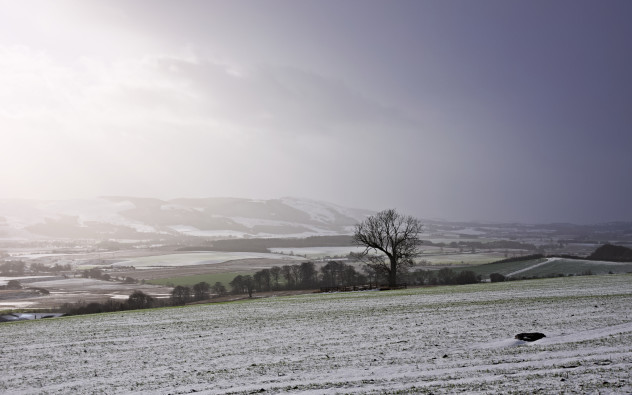 Taken above Forteviot on a snowy winter day.