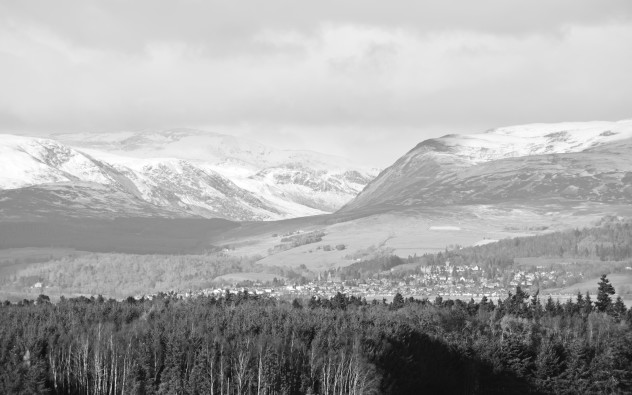 A view from Auchterarder to Crieff and beyond - Glen Turret lurking between the mountains Coinneachan and Beinn Liath.