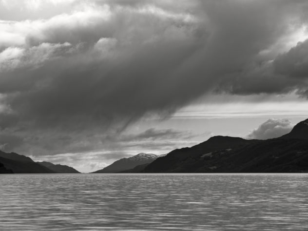 A well-known yet still favoured beach, at Dores on the southern shores and looking down the length of Loch Ness.