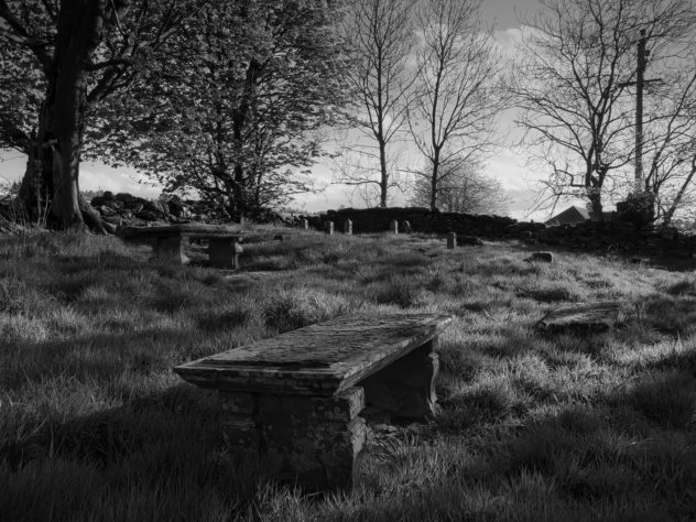 Gravestones in an old graveyard on the outskirts of Auchterarder