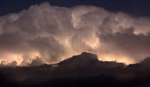 Clouds illuminated by lightning - an amazing thunderstorm 2016-07-20 c.3am.