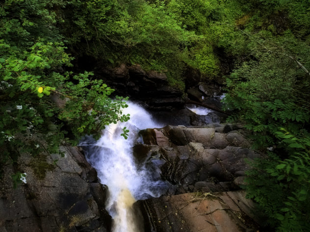 Bit of a drop - the view down the waterfall, BIrks of Aberfeldy