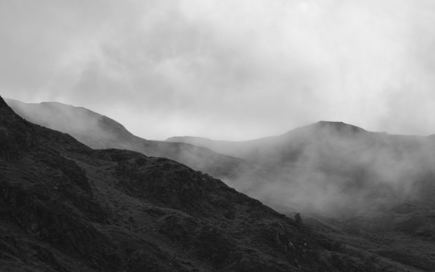 Layers of mountains receding into the distance are one of my favourite subjects anyway; coupled with fairly thick mist lapping around the lines, well I just had to park and shoot this from the roadside.Mor Bheinn, Strathearn, just outside St Filan's.