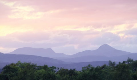 A few miles away - Beinn Vorlich and Ben Ledi from Auchterarder
