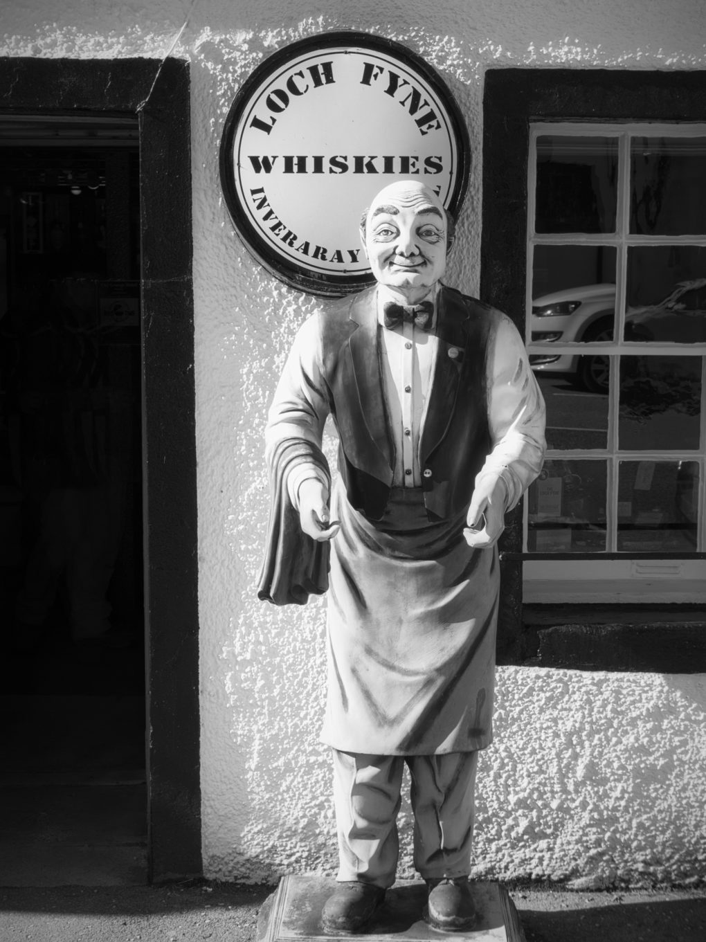 Statue outside the Loch Fyne Whiskies shop, Inverary