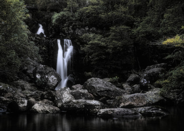 Classic landscape: a long exposure of the waterfall at Inversnaid on the shores of Loch Lomond.