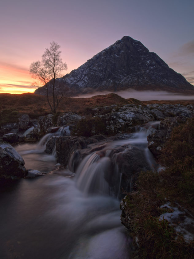 Buachaille Etive Mor from the River Coupall, Glen Etive