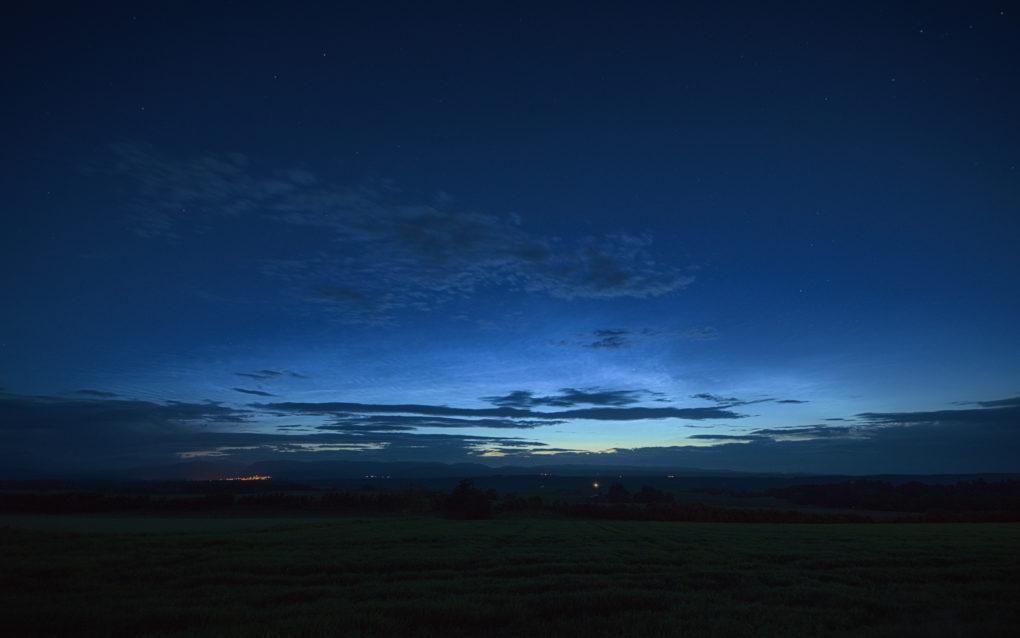 Noctilucent Clouds, around 1am - Crieff across Strathearn from Auchterarder