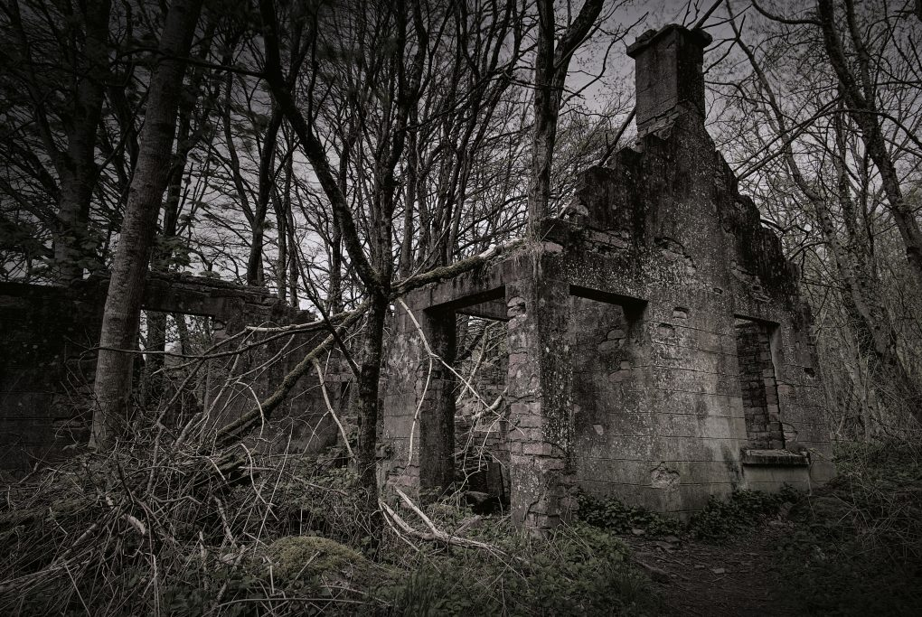 Quite atmospheric - a ruined house at the corner of Lady Mary's Walk outside Crieff