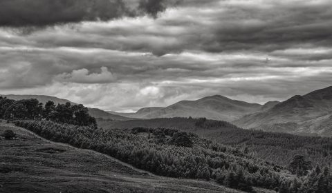Ben Lawers and adjacent mountains, from the top of the moor between Amulree and Kenmore.
