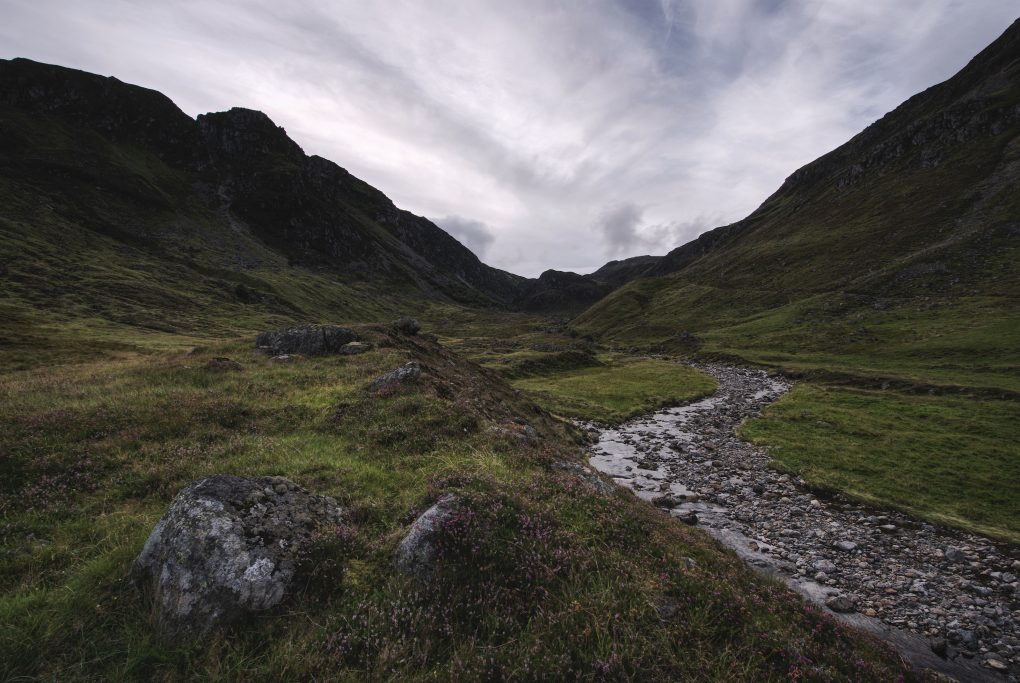 At the foot of a glacial corrie - Glen Clova