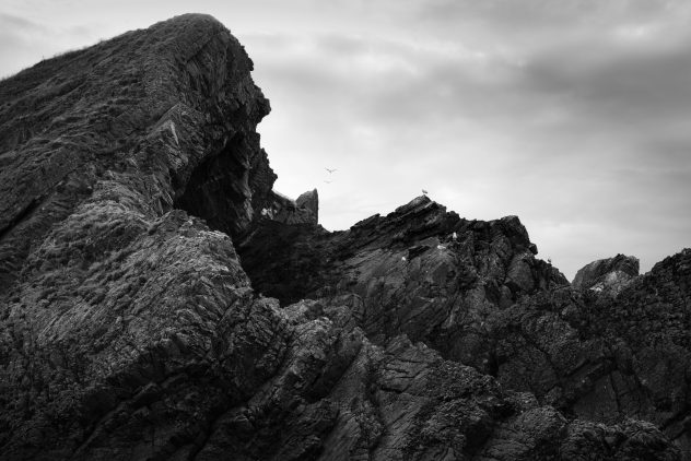 Awesome rock formations at Portknockie